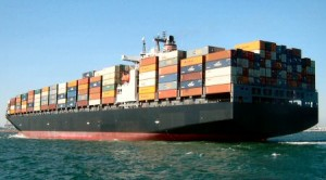 Cargo Ship, carrying among other things, Produce!
