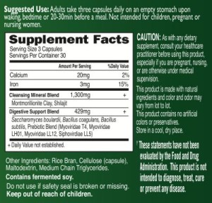 Beyond Organic Terra Firma Supplement Facts